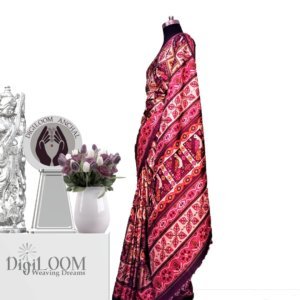Handloom Moonga Mulberry Silk Saree in Beige Colour