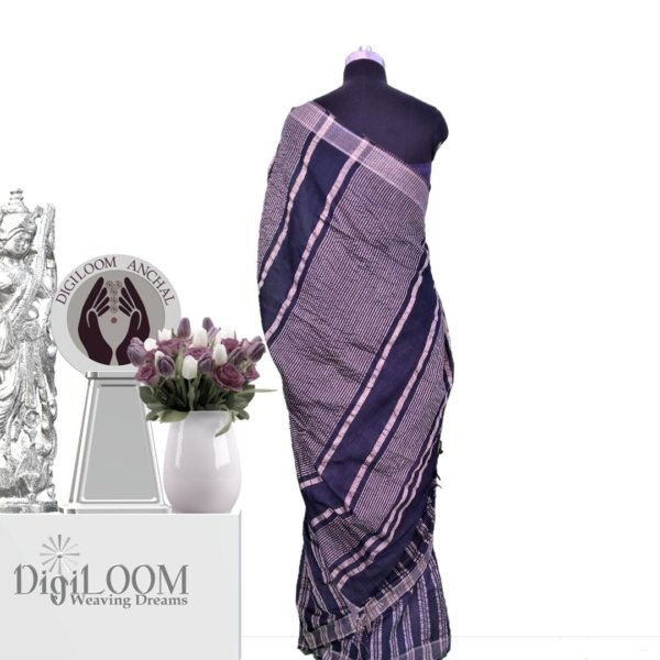black handloom jute silk saree c