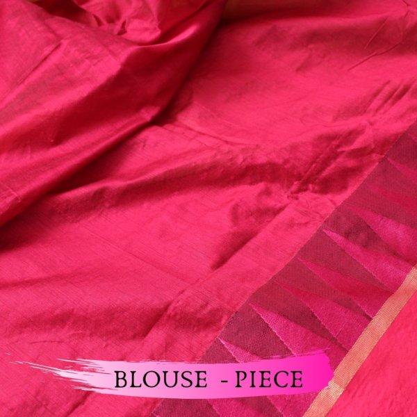 Handloom Bailu Saree in Mehandi Colour with Contrast Pallu and Border DLBS1005-c