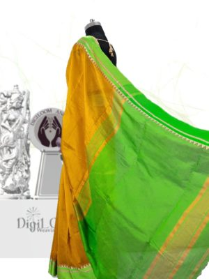 Digiloom Bengal Handloom Cotton Silk Saree in Mehandi Green Colour 25