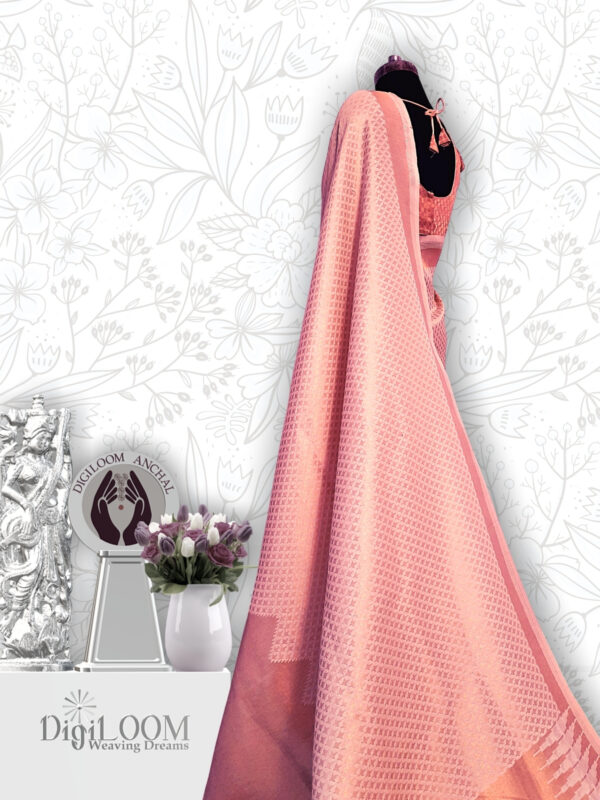 classic Handloom Malwari Saree in Off White and Gold Colour 2