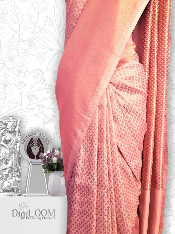 classic Handloom Malwari Saree in Off White and Gold Colour7