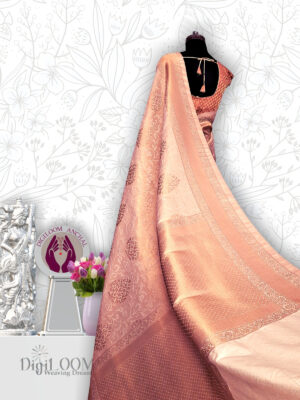 classic Handloom Malwari Saree in Off White and Gold Combination 8